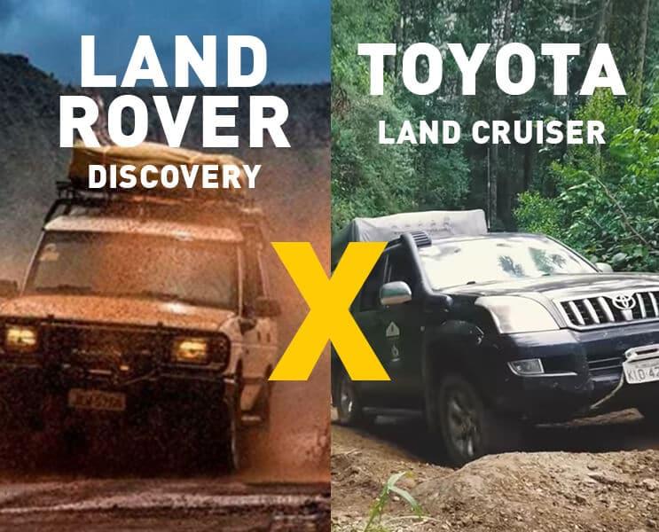 LAND ROVER DISCOVERY 1 OU LAND CRUISER PRADO. <br>QUAL É A MELHOR PARA O OVERLAND?